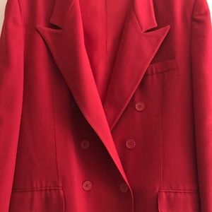 Evan Picone Red Double Breasted Blazer Size 14